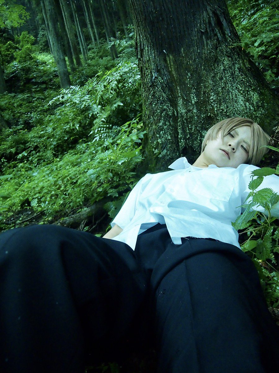 【Cosplay】夏目友人帳「あれ、ここは...いったい...」夏目貴志:私Photo:咲( )ロケ地:自然郷 東沢 様