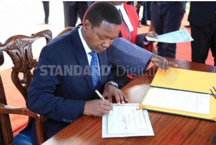 Machakos Governor Alfred Mutua in action from Facebook