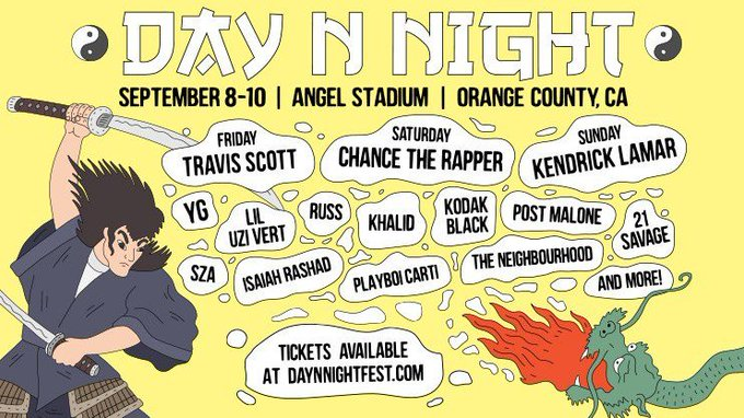 Win a pair of 3-Day GA passes to Day N Night!