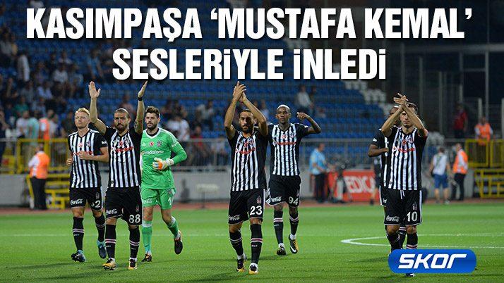 Beşiktaş taraftarından 'Mustafa Kemal'in askerleriyiz' tezahüratı