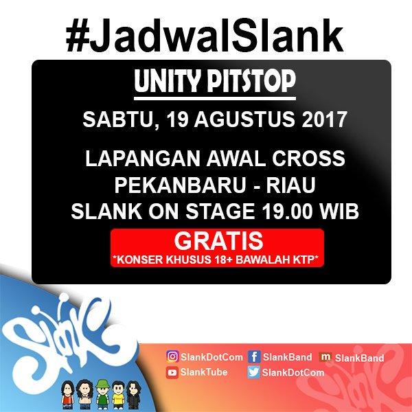 Sampai ketemu MALAM NANTI di Pekanbaru! KONSER KHUSUS 18+ (Bawalah KTP/SIM)  GRATIS, ayo #ngeSlankRameRame https://t.co/zFnATvwxNK