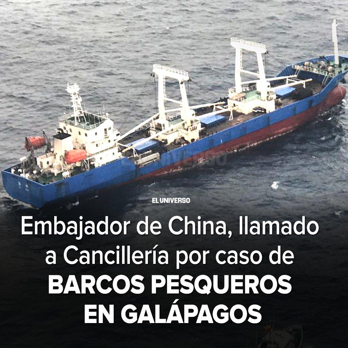 Ecuador protesta ante embajador de China por pesca en zona cercana a Galápagos