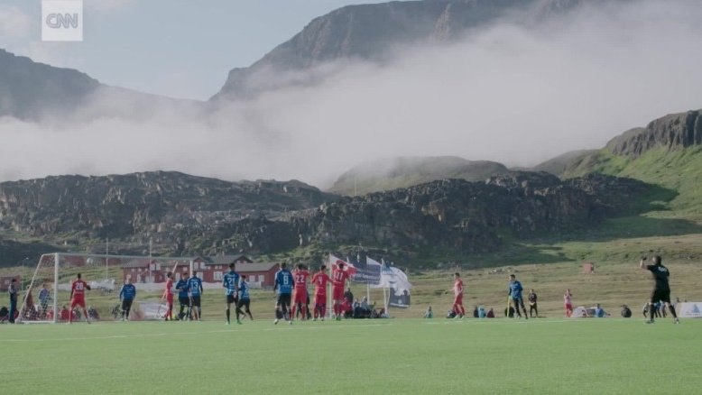 Greenland: Soccer with whales and icebergs
