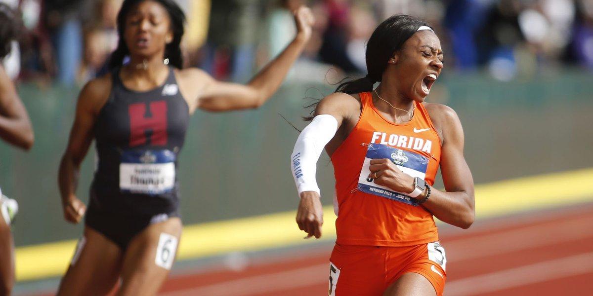 Kyra Jefferson blazing the track on collegiate circuit as NCAA champ