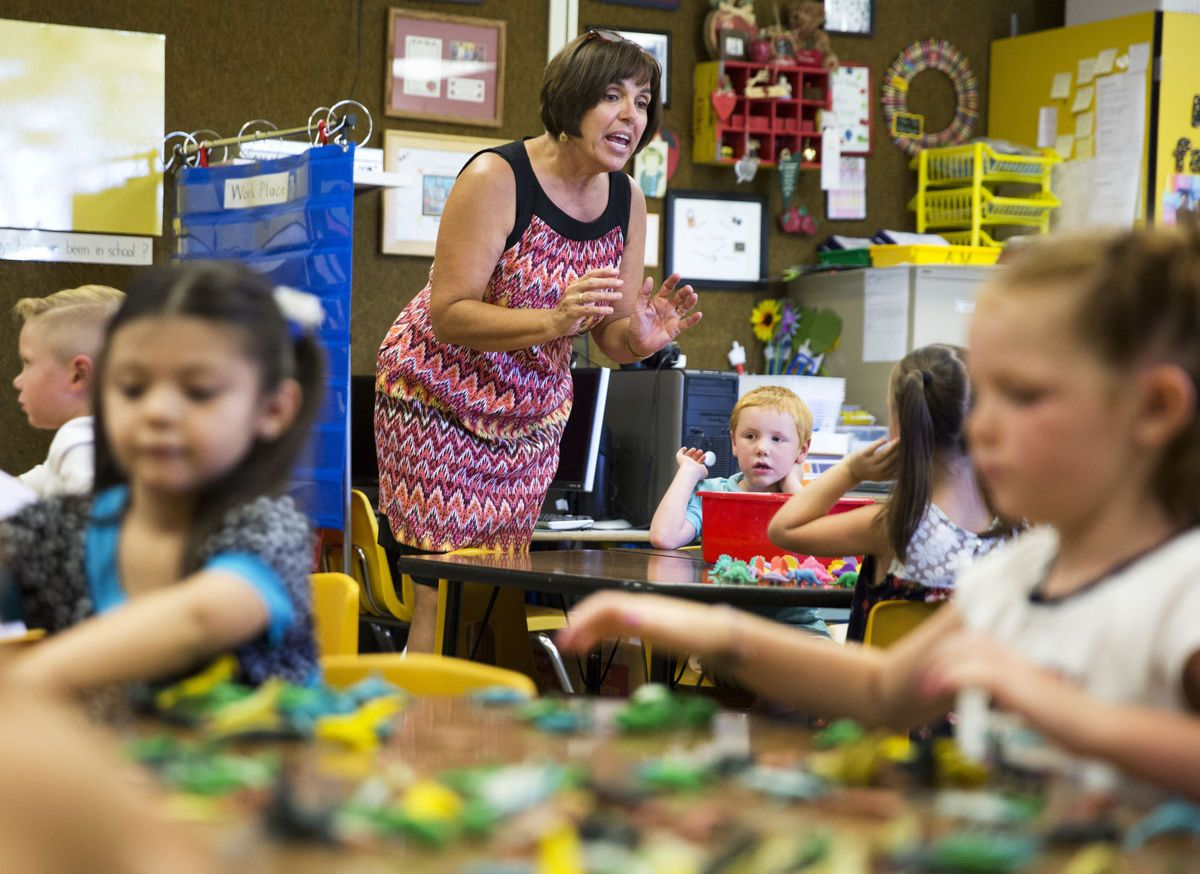 The first day of kindergarten means smiles and tears for Twin Falls' newest students