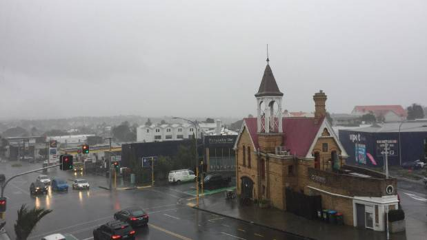 Thunderstorms and rain strike Northland and Auckland