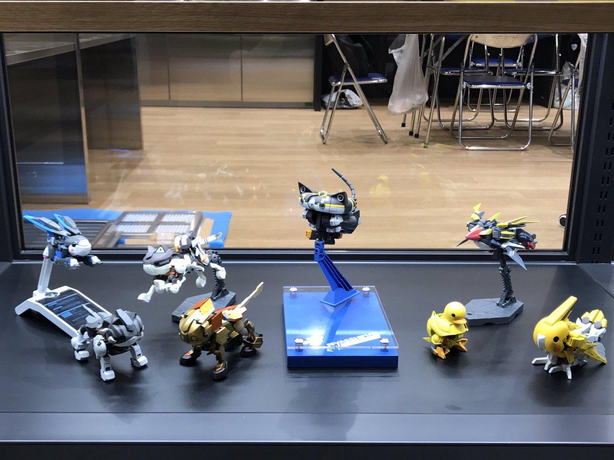 いよいよ始まりました #ガンダムベース東京 にニャッシマーや外伝コミックス登場ガンプラを中心とした動物系ガンプラを一挙展