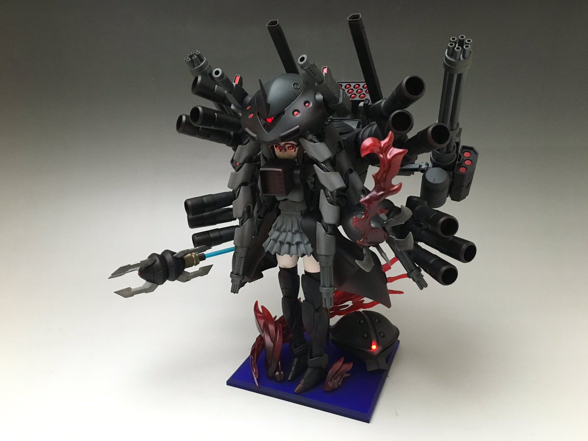 チナッガイ改め「冥海姫 千那」FAガールで学んだ技術をガンプラガールに注いだらこうなりました(笑)モリモリの武装や全身グ