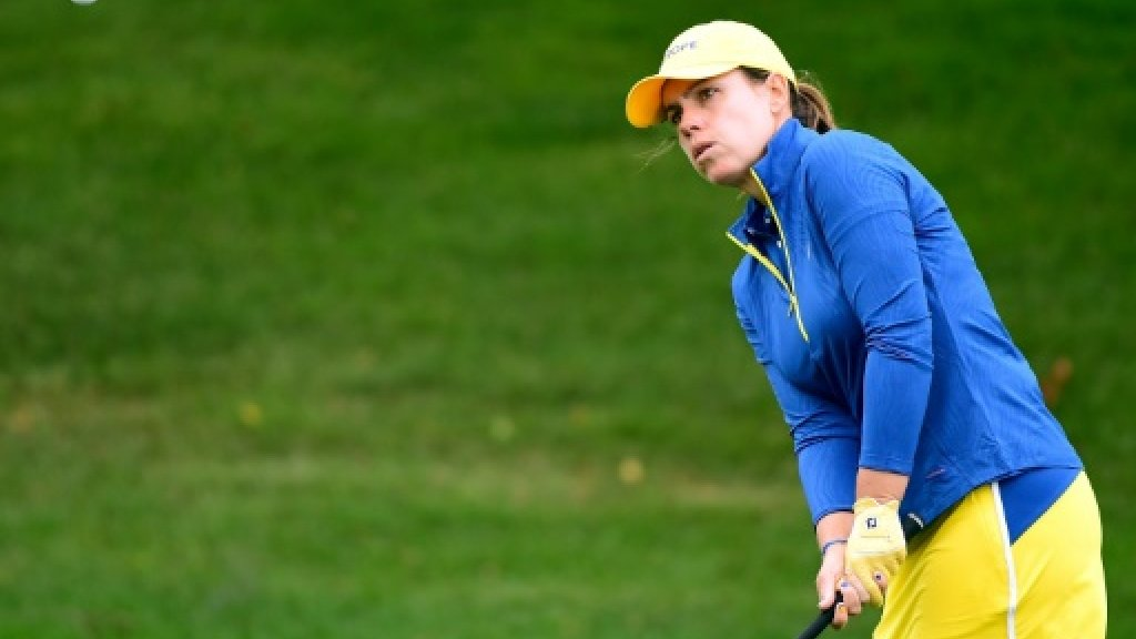 Europe takes slim early lead over US in Solheim Cup