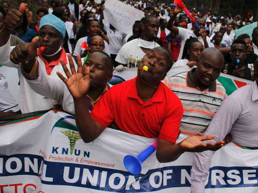 Half of the counties have paid nurses who are still on strike