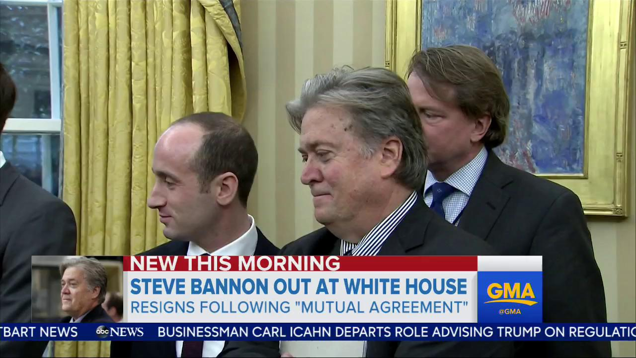 WATCH: Steve Bannon out at White House; resigns following 'mutual agreement': https://t.co/hCOUNbMQwp @WrightUps https://t.co/4dMRa4KKQI