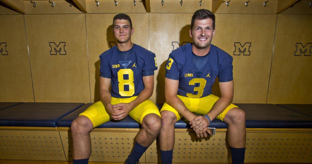 Michigan's Wilton Speight-John O'Korn QB battle 'great for the team'