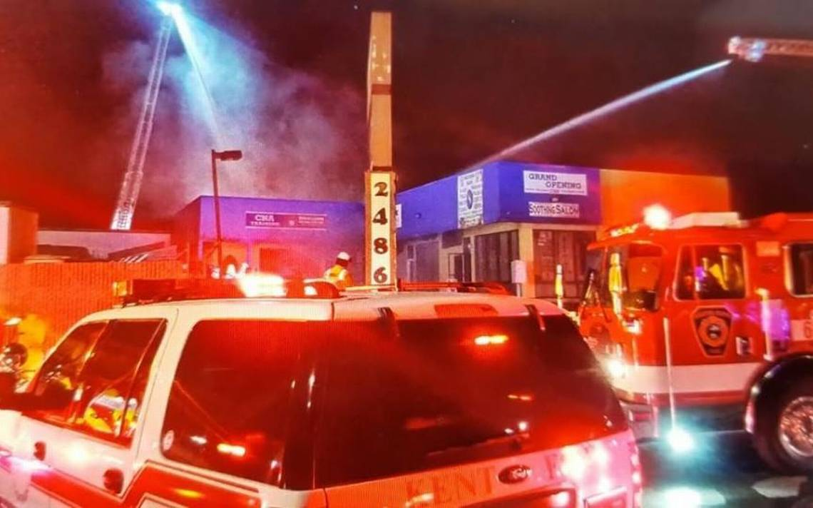 Firefighter injured putting out fire at Kent business