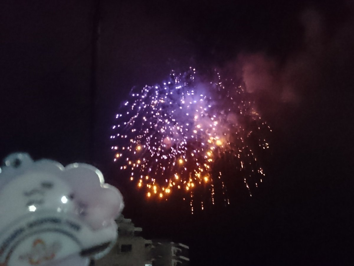 浦賀みなと祭り花火大会🎆終了と共に雨!セーフ!!#tamayura