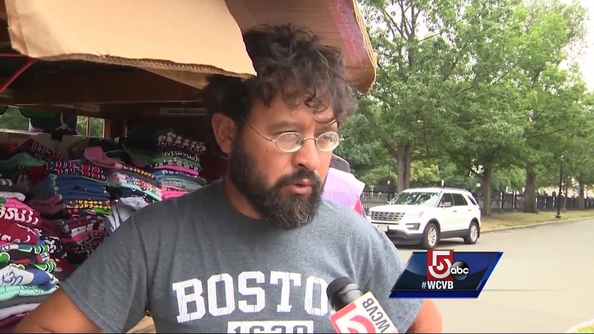 Vendors booted from Boston Common for rally