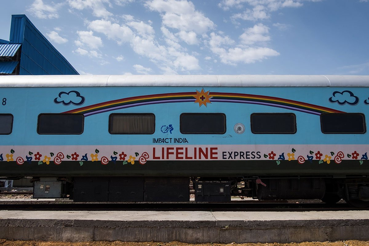 A train hospital that travels across India providing healthcare to millions