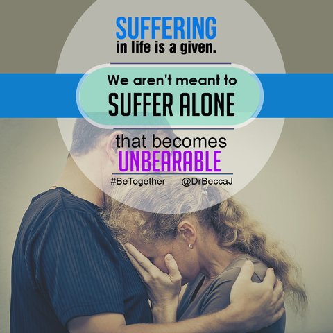 We aren't meant to suffer alone.  #Suffering #BeTogether #Marriage https://t.co/U4mDs4HU9H