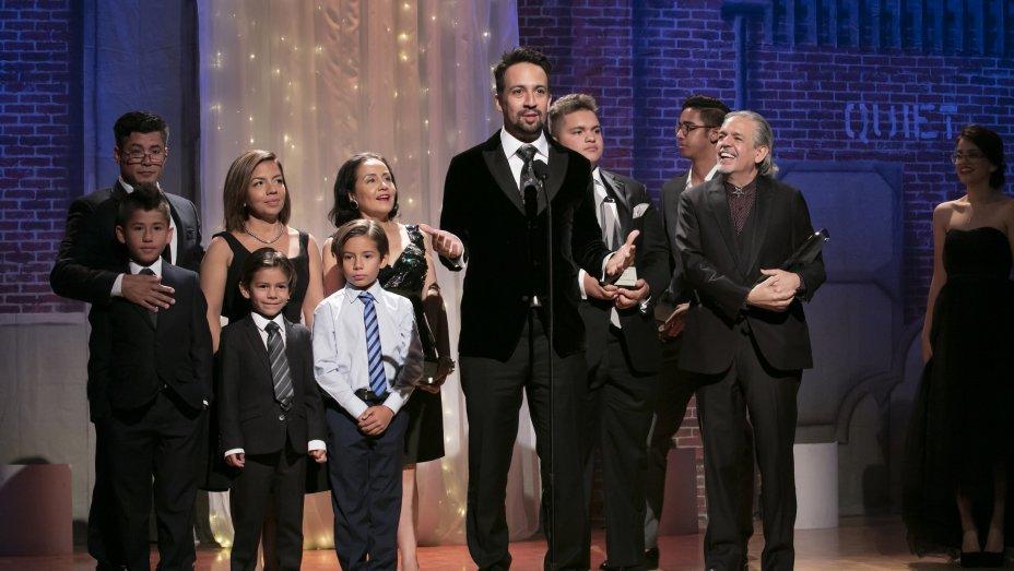 Lin-Manuel Miranda and family honored at Imagen Awards