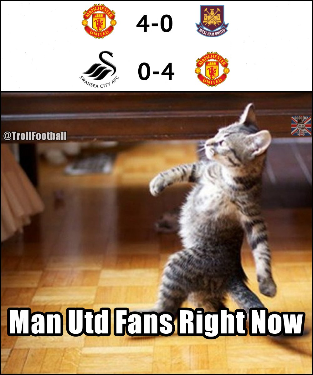 RT @TrollFootball: Manchester United fans right now 😎 https://t.co/d8FVfgu14h