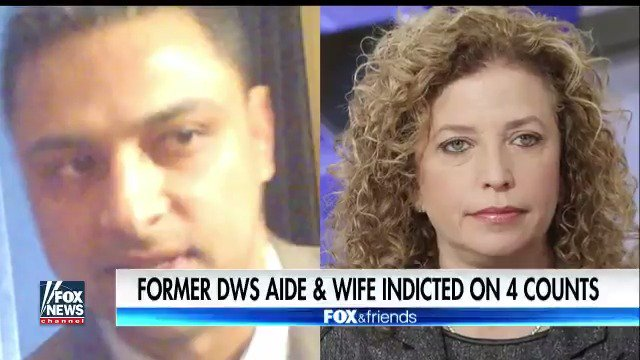 Debbie Wasserman Schultz aide and wife indicted on 4 counts. https://t.co/X7ihF2lDz4