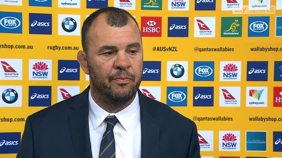 test Twitter Media - WATCH: Michael Cheika chose to focus upon the positives after Australia's 54-34 loss to the All Blacks. https://t.co/4rnPp6Ik7v https://t.co/vG5t9Aut9X