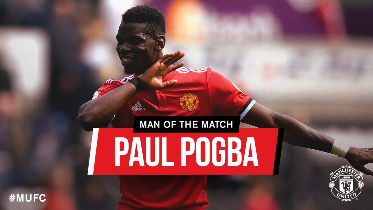 RT @ManUtd: With almost two-thirds of your vote, today's Man of the Match is @PaulPogba! #MUFC https://t.co/iZX4nHndXk