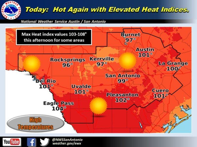 Sunny, hot weekend ahead in Austin