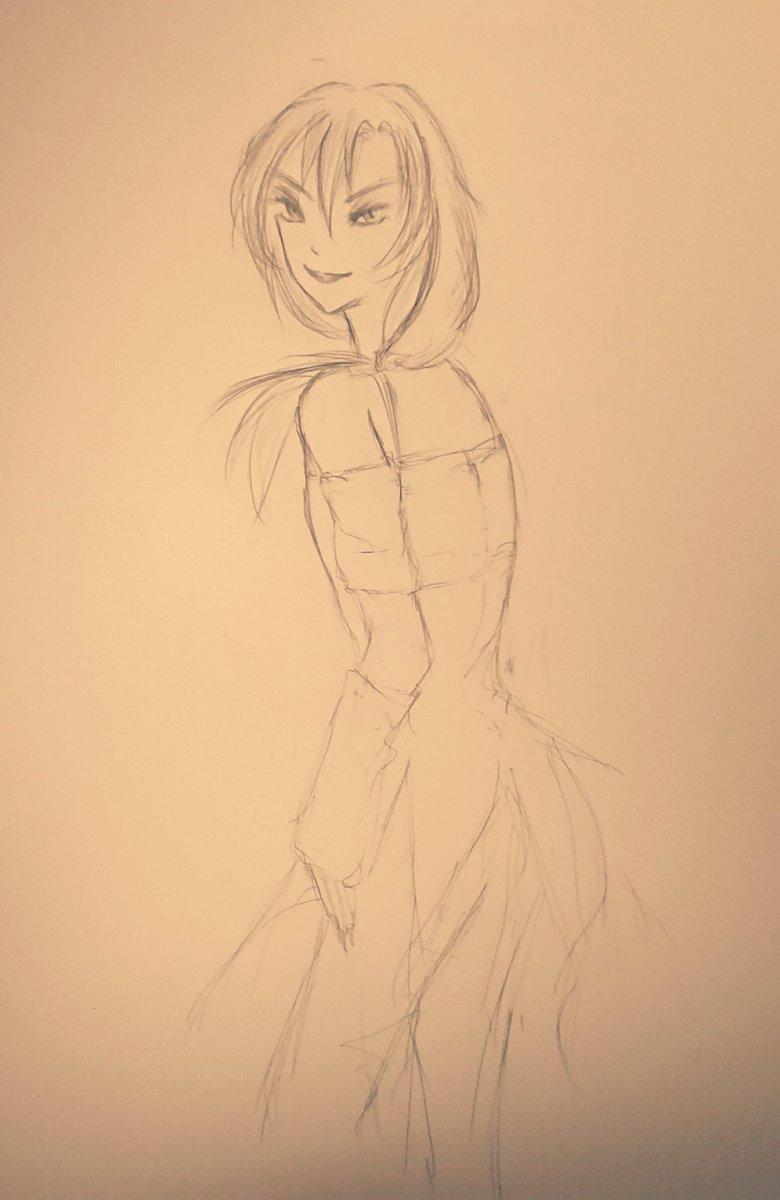 ダンデビ、ワンドロ。お題ジェキさんで~もっとお腰やお腿を描きこめればよかったけれど。#DwD_1hour