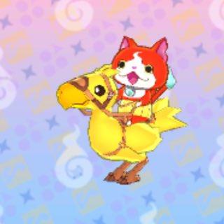 妖怪ウォッチ天ぷらをなんとかクリアしたよー!ほんならFFコラボしてたんやね!!!チョコボが出て来た!!