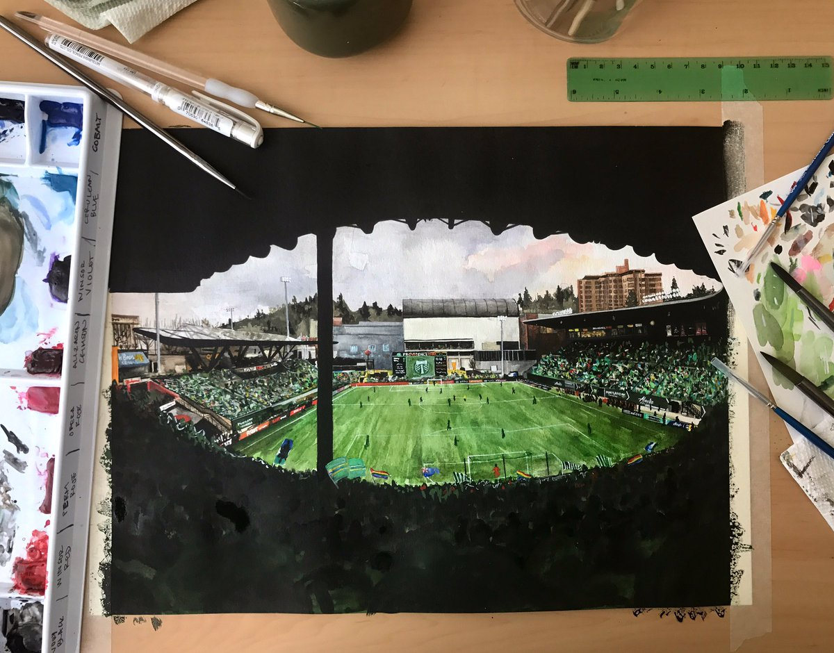 """RT @nms_art: The tape is still on, but here's """"In The North End"""" 🏟 #RCTID @TimbersFC @timbersarmy https://t.co/RtI5vOnlAT"""