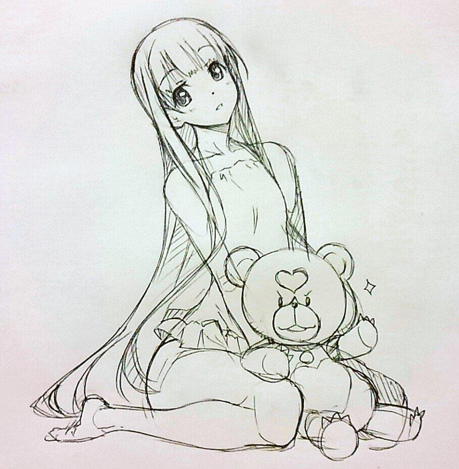 「蒼き鋼のアルペジオ」イオナさん&キリクマさんクマを描きたくなったので。