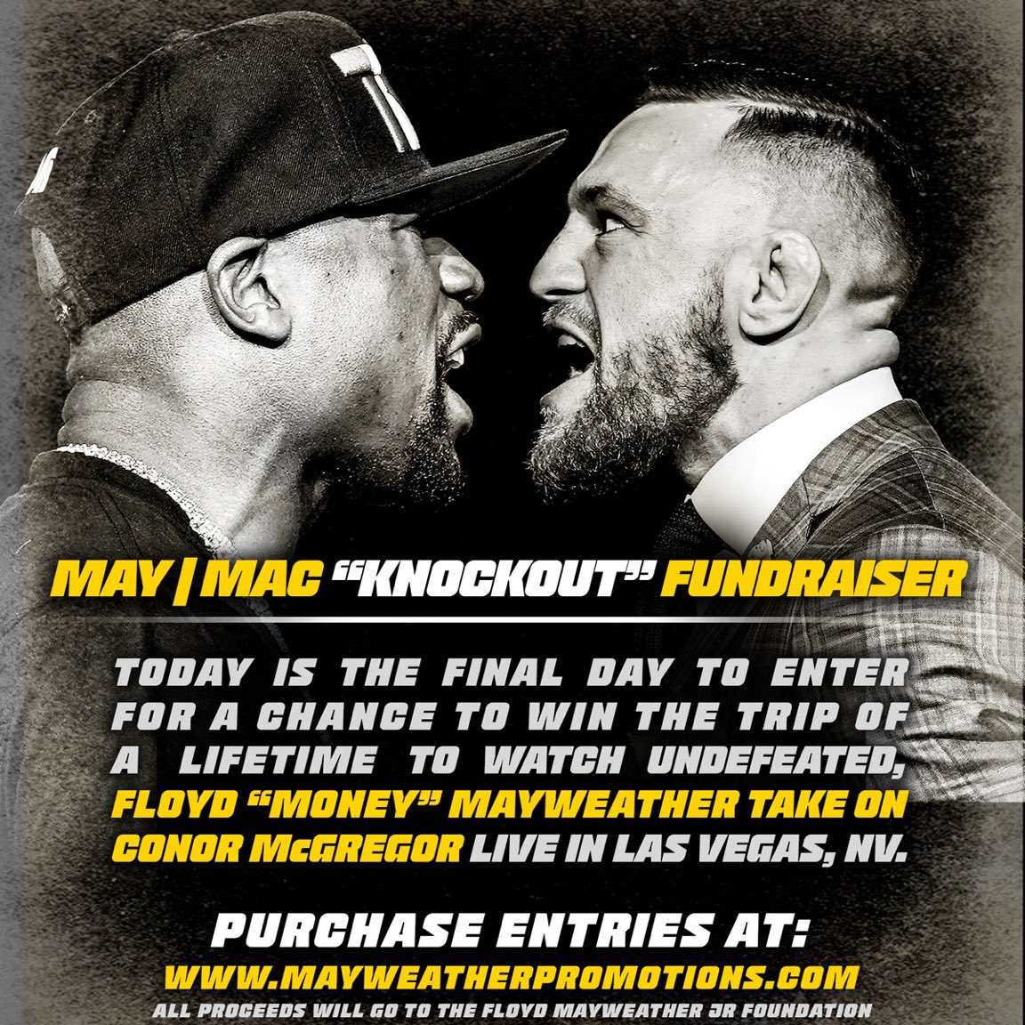 test Twitter Media - FINAL DAY! Don't miss your opportunity to win the trip if a lifetime to watch #MayweatherMcGregor LIVE in Vegas! 🥊🛩 https://t.co/UZ4r6MPQzs https://t.co/ssQqueMyu7