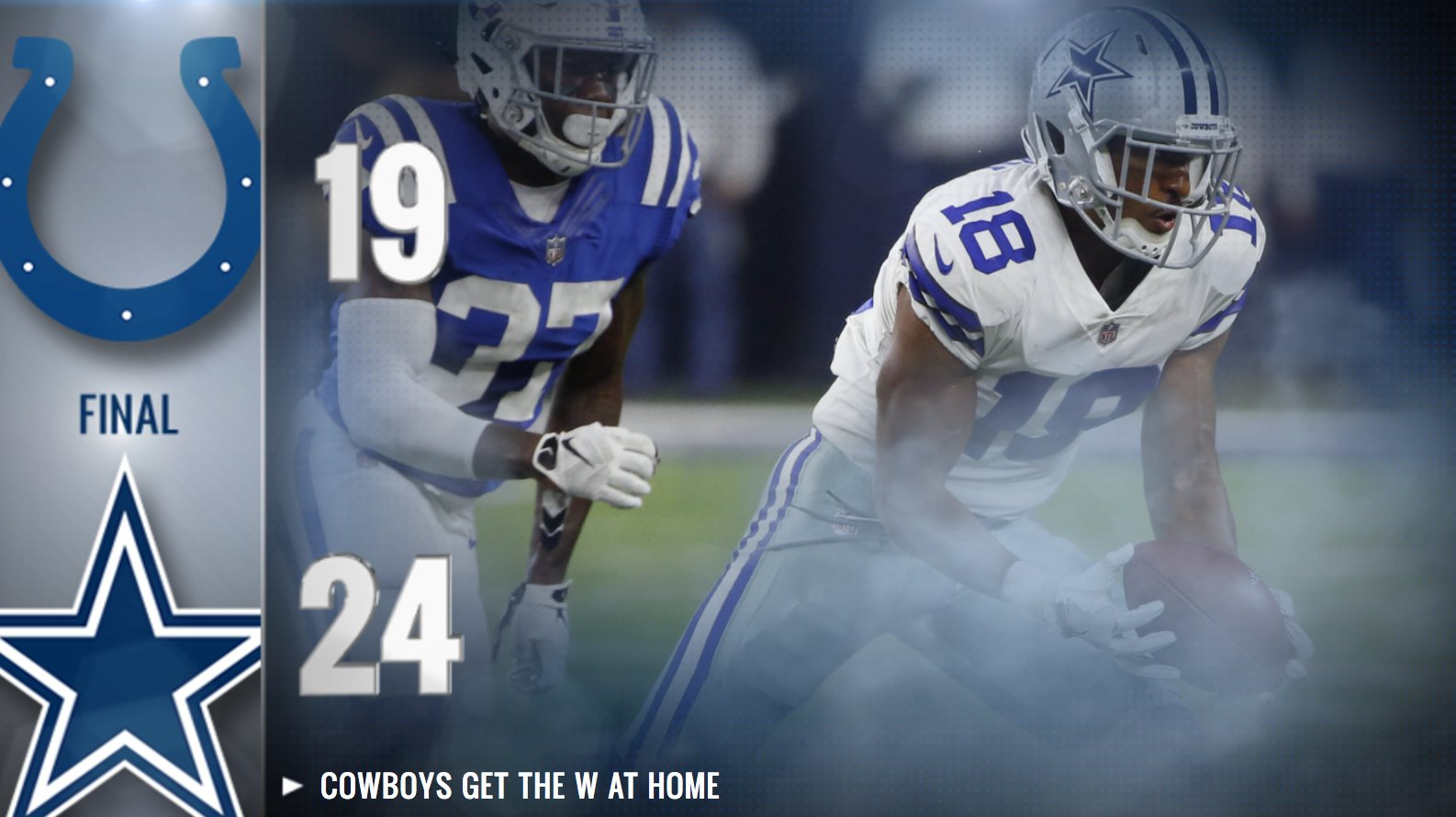 #DallasCowboys get the W at @ATTStadium  Happy to be home! #INDvsDAL https://t.co/bABidRThmk