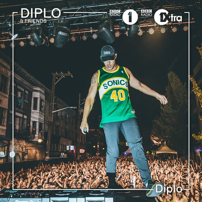 IN AN HOUR on #DiploAndFriends: no friends, just @diplo - ONLY ON @BBCR1 + @1Xtra ---> https://t.co/ENFJkjQN9s https://t.co/4zWbMqgFRm