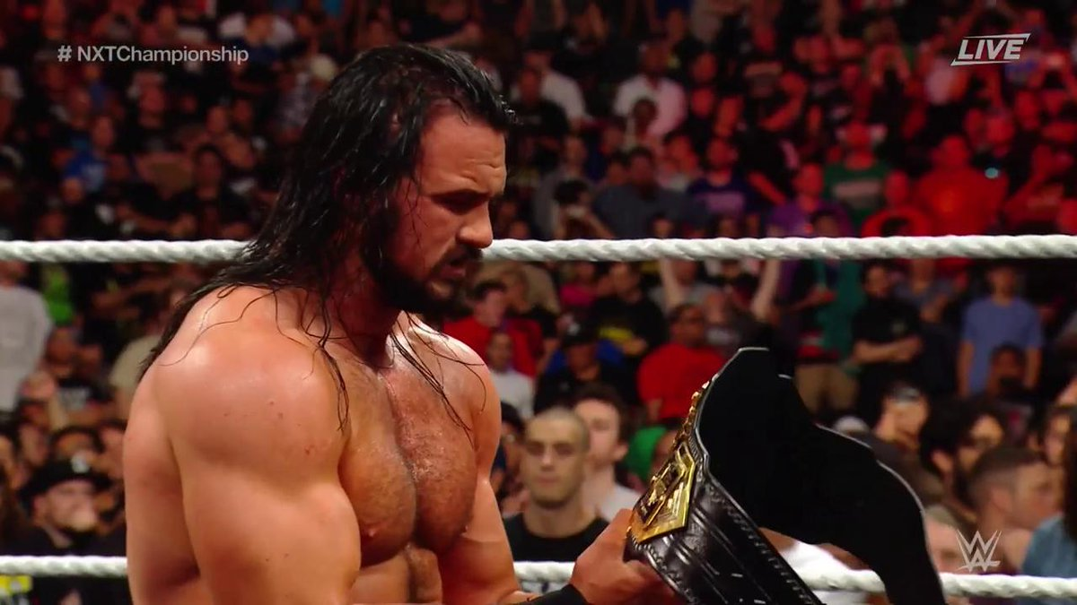 RT @WWE: The #ChosenOne is now THE one... to hold the #NXTChampionship! @DMcIntyreWWE #NXTTakeOver https://t.co/cLz1YzOLMH
