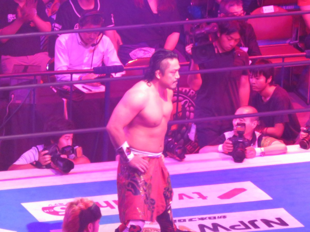 RT @UetaTakumi: 8.13 G1 CLIMAX両国大会優勝決定戦 CHAOS 後藤洋央紀選手 YOSHI-HASHI選手 #njpw #g127 #CHAOS https://t.co/jscKvq0k7W