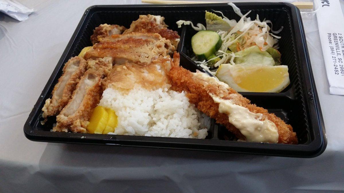 アメリカサウスカロライナ州の盆フェスティバルにて、日本のお弁当食べた!だし巻き玉子入れて欲しかったな#kimimachi