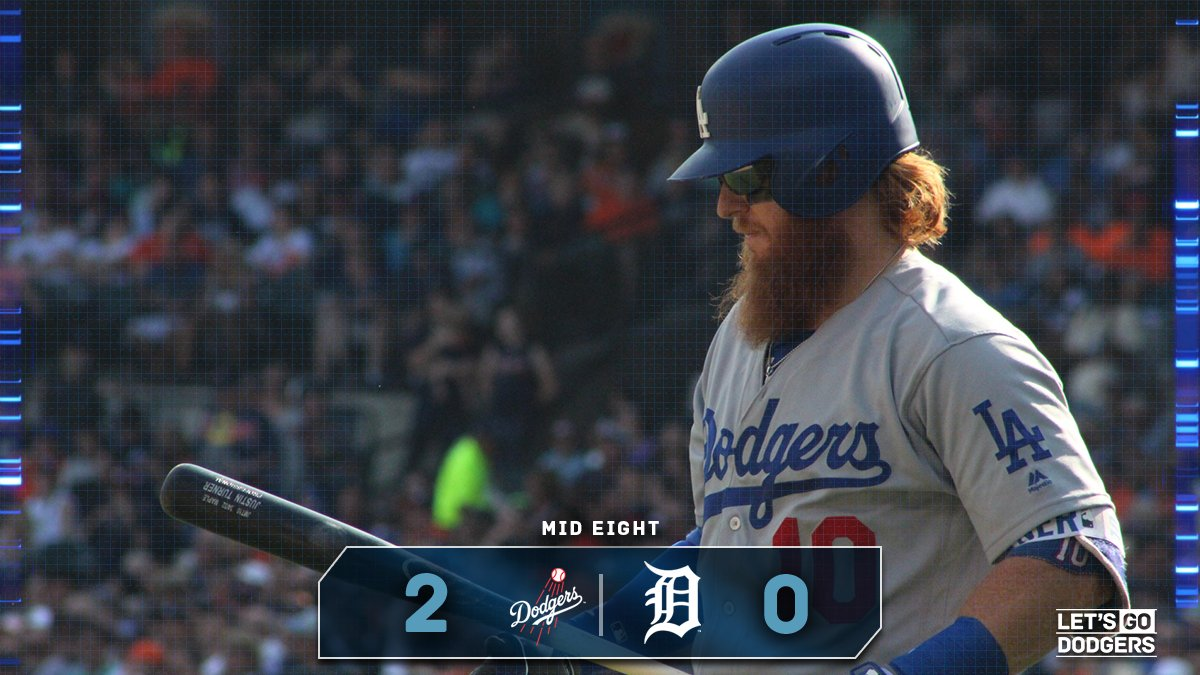 Mid 8:  #Dodgers 2, Tigers 0  �� https://t.co/YHjoeZO2m9