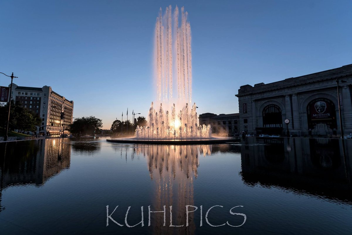 A stunning shot of the Station and Henry Wollman Bloch Fountain courtesy of KuhlPics Photography.