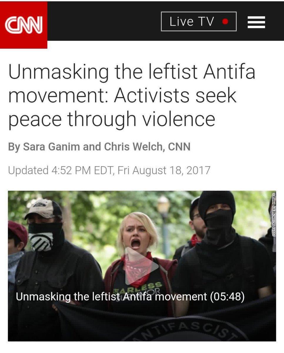 RT @President1Trump: CNN is Antifa 👇🏻 https://t.co/GAqIllCla9