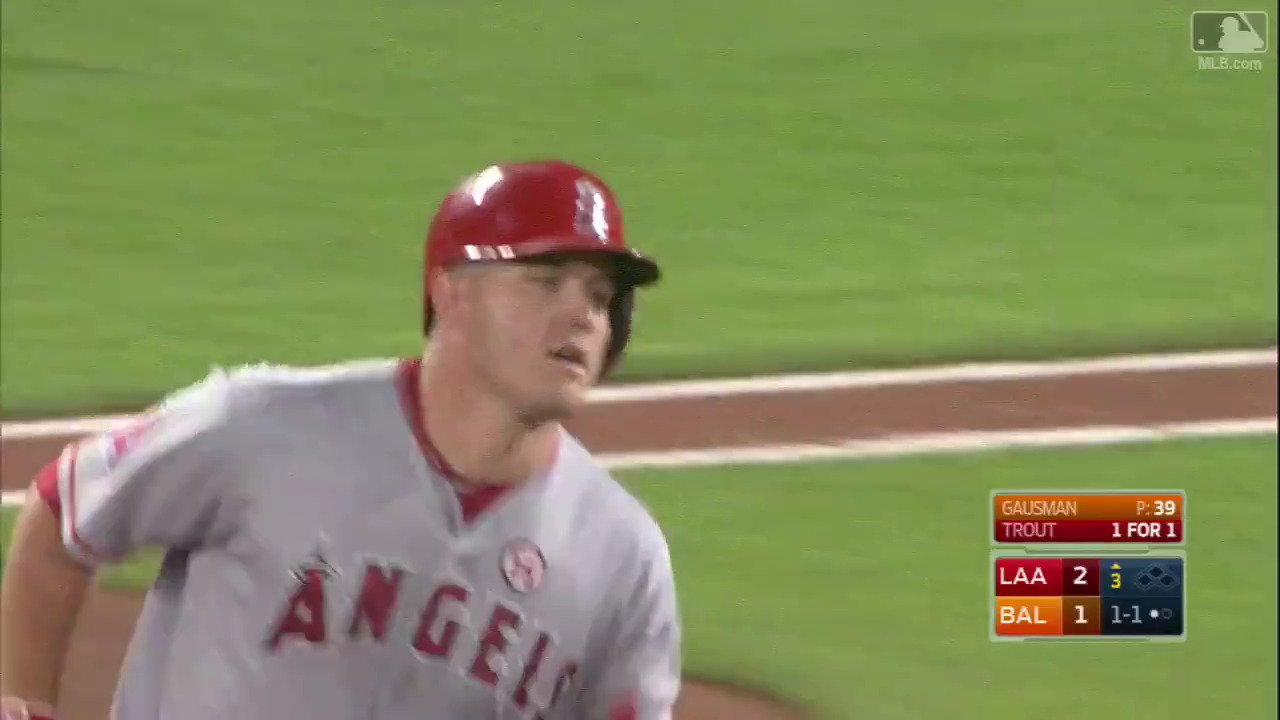 Another at-bat, another homer.  @MikeTrout – still doing @MikeTrout things. https://t.co/XoxI4ayhlY https://t.co/Hqf21jKoR6