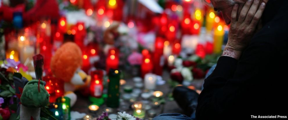 Families of a group of attack suspects in northern Spain denounce terrorism
