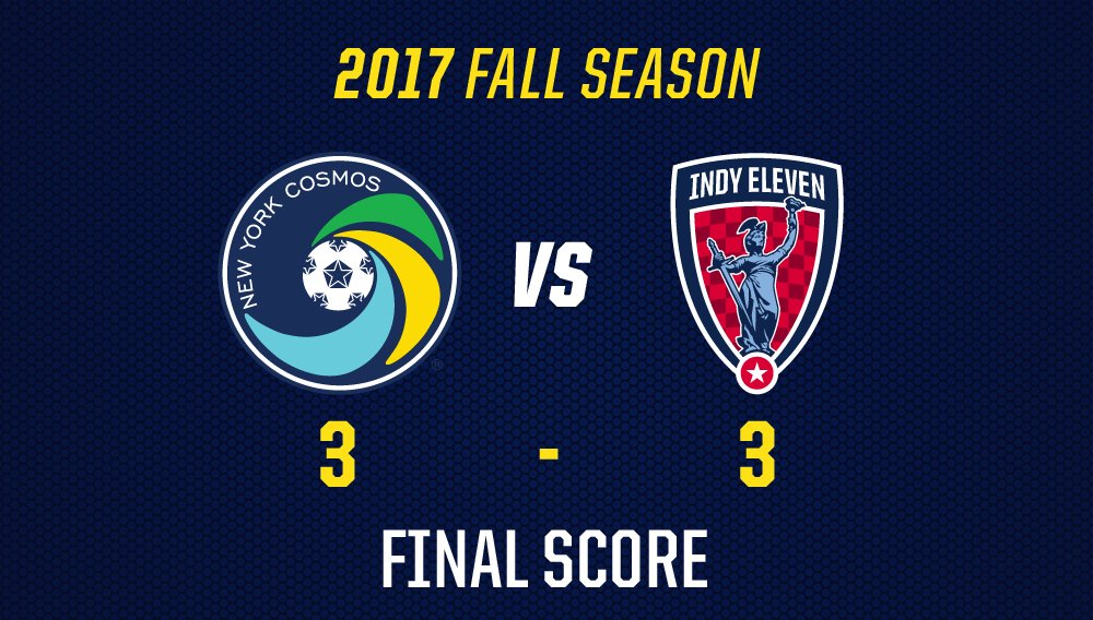 RT @NYCosmos: FULL TIME AT MCU PARK.  3-3   #NYCvIND https://t.co/SiIkls9SYF