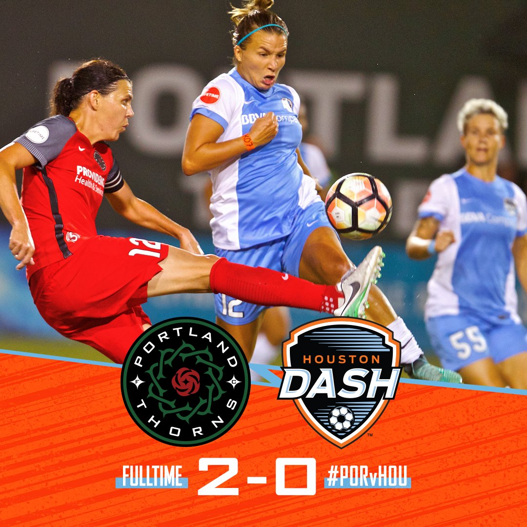 FT: Thorns 2-0 Dash  Soccer, it's not easy y'all.   #PORvHOU https://t.co/Z0EP4Cq6b8
