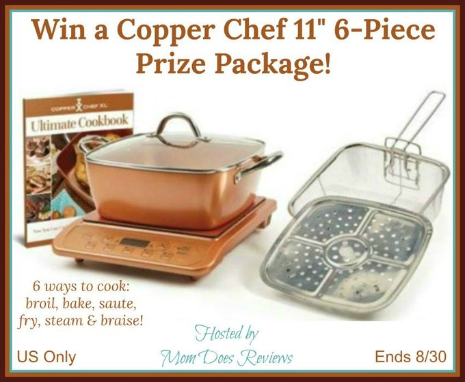 "Copper Chef 11"" 6-Piece Prize Package-1-US-Ends 8/30"