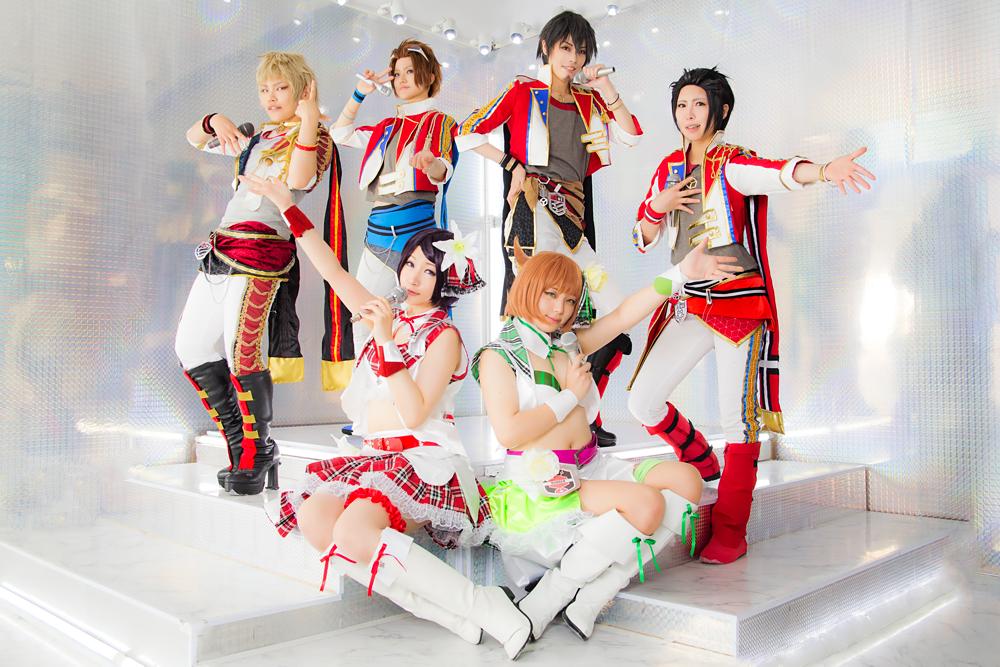 コス✮ワールドトリガー スマボアイドル衣装 木虎藍白い衣装のA級男女アイドル合わせ~!✨本当にユニット組んでるような一体