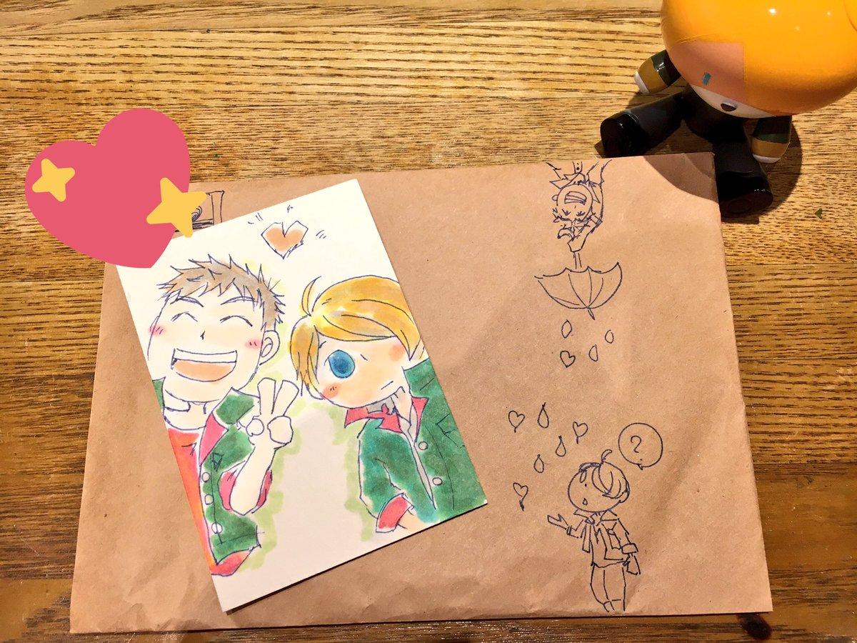 インテ帰りに別ジャンルの友達ズと飲み~☺🍻オルフェンズ未視聴の友達がシノヤマ描いてきてくれたよ(ΦωΦ)♥