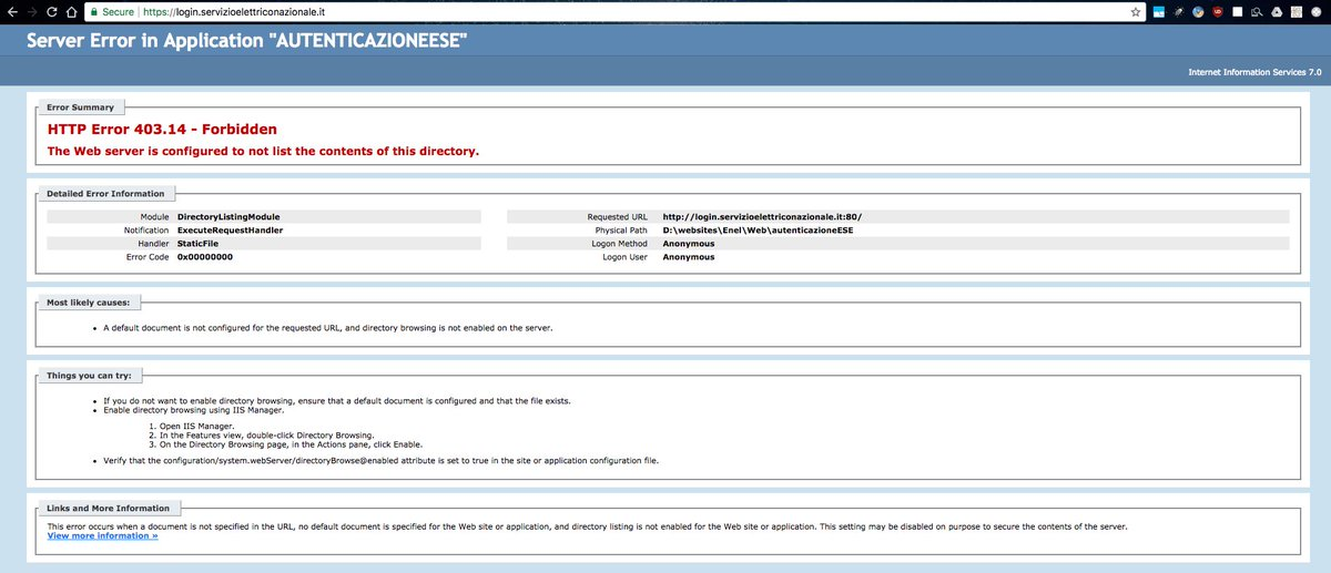 test Twitter Media - @EnelGroupIT @disinformatico Accedendo all'homepage e smontando l'URL. Con navigazione anonima funziona: problema di cookie, immagino. #Enel https://t.co/9zpdOVvRHa