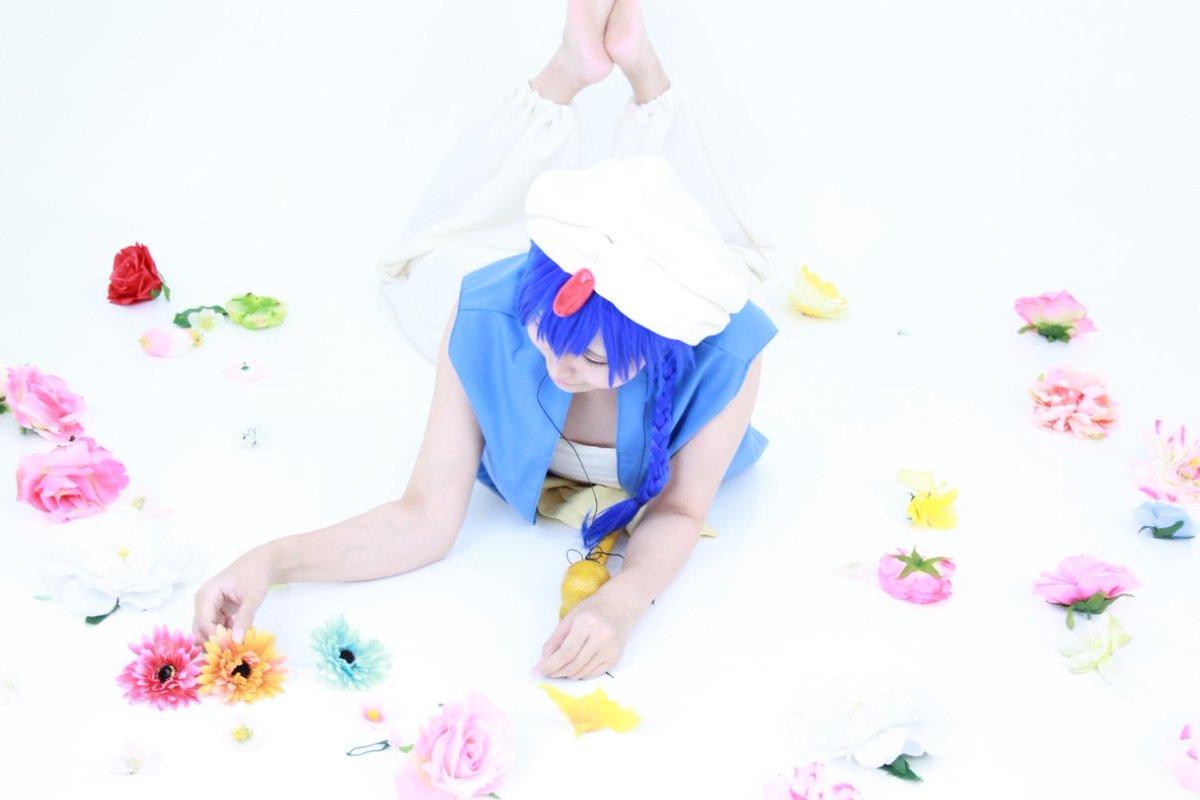 【⚠︎コスプレ注意】二回目のマギ🙌💕お花を並べて遊んでました🌸photo:ばにるさん