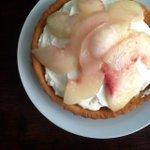 Made peach tart again with custard n another yogrut cream. T